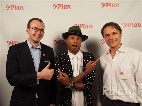 Asmeninio archyvo nuotr./Viktoras Jucikas, Pharrell, Rytis Vitkauskas
