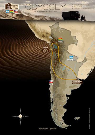 Organizatorių nuotr./2015-ųjų metų Dakaro žemėlapis
