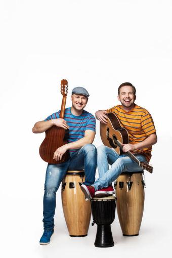 Asmeninio albumo nuotr./Algirdas Radzevičius ir Juozas Butnorius