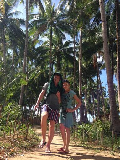 Asmeninio albumo nuotr./Šarūno ir Kotrynos Kirdeikių atostogų Filipinuose akimirka