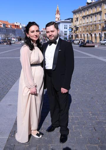 Luko Balandžio/Žmonės.lt nuotr./Rafailas Karpis ir Diana Daunoravičiūtė