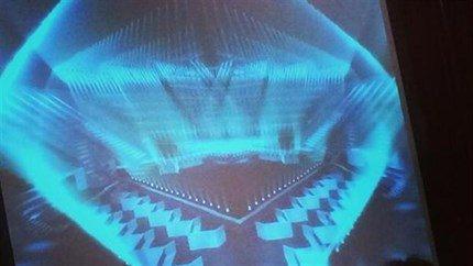 """eurovision.tv nuotr./""""Eurovizijos"""" scena """"B&W-Hallerne"""" arenoje"""