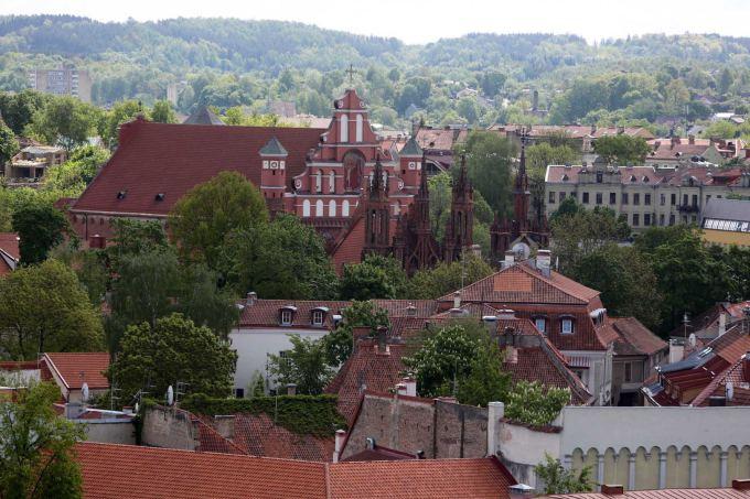 Juliaus Kalinsko / 15min nuotr./Vilniaus katedros varpinė ir vaizdai per jos langus