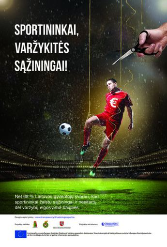 TILS plakatas sąžiningam sportui remti