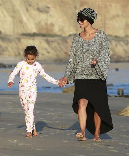 AOP nuotr./Halle Berry su dukra Nahla