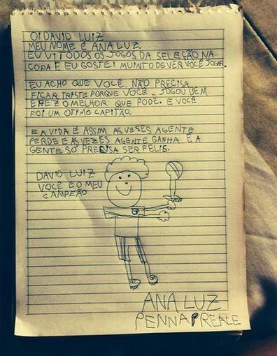 twitter nuotr./Davido Luizo gerbėjo laiškas