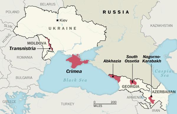 Teritoriniai konfliktai prie Rusijos