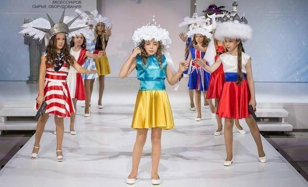 Vaikų madų šou Maskvoje