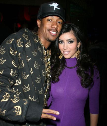 AOP nuotr./Nickas Cannonas ir Kim Kardashian 2007-aisiais