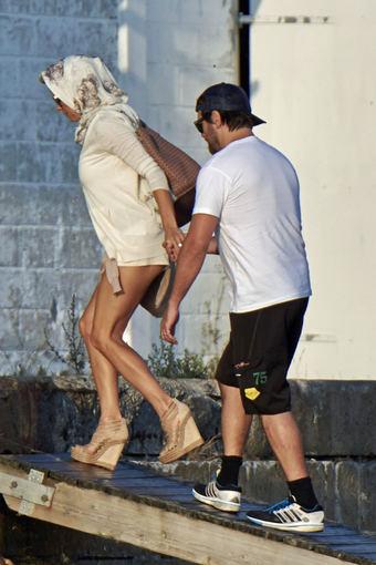 AOP nuotr./Pamela Anderson ir Rickas Salomonas Danijoje
