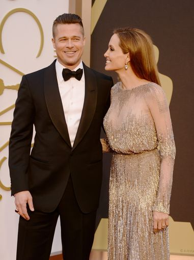 "AFP/""Scanpix"" nuotr./Bradas Pittas ir Angelina Jolie (2014 m.)"