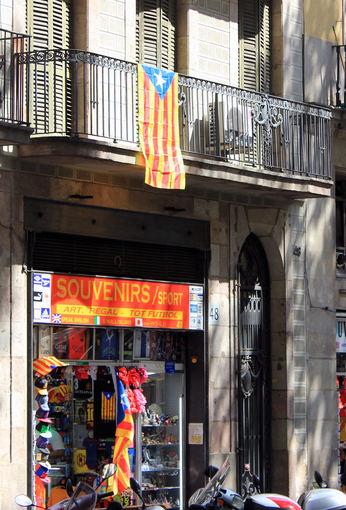 """Pauliaus Cuberos nuotr./Katalonijos vėliava – """"Senyera"""""""