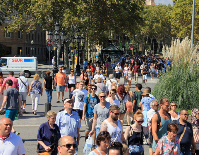 Pauliaus Cuberos nuotr./Barselonos La Rambla gatvė