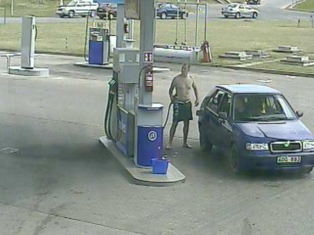 Degalų vagyste įtariamas vyras