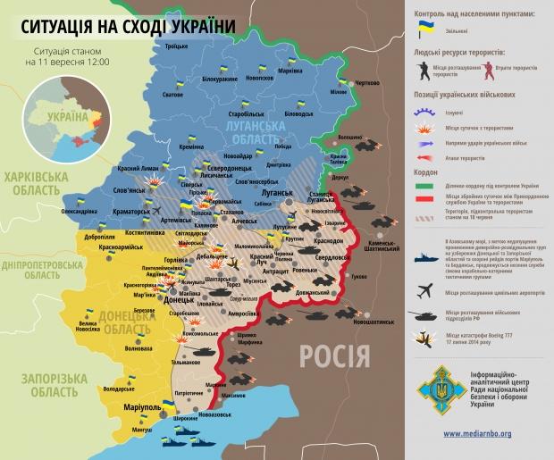 Situacija Rytų Ukrainoje rugsėjo 11 d.