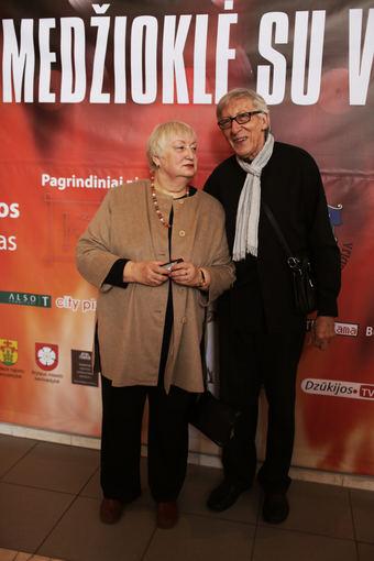 Gabijos Labutytės nuotr./Giedrius Antanas Kuprevičius su žmona Gražina