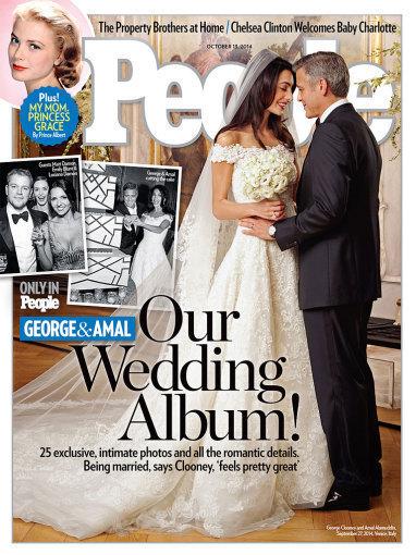 """Žurnalo """"People"""" viršelis/George'as Clooney ir Amal Alamuddin"""