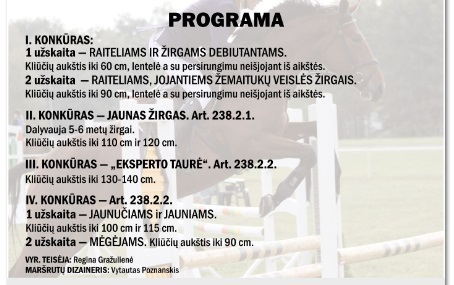 """UAB """"Lietuvos žirgynas"""" nuotr./Programa"""