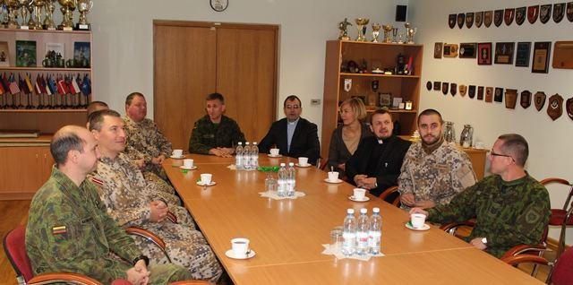 Latvijos kariuomenės kapelionų vizitas
