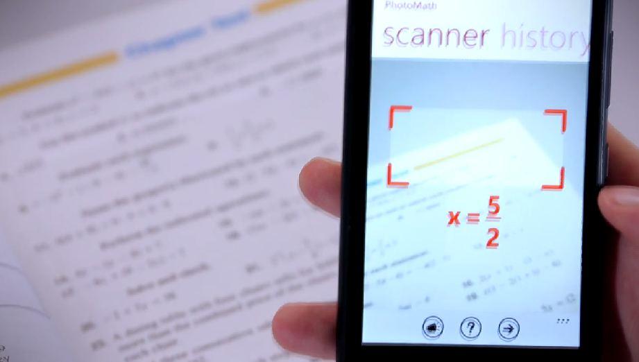 Programėlė leis vos nukreipus teleono kamerą į uždavinį sužinoti teisingą atsakymą