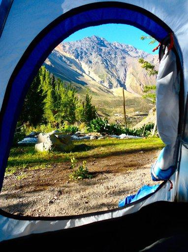 Baños Morales kalnai Čilėje.