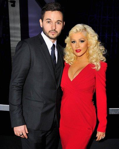 """AFP/""""Scanpix"""" nuotr./Christina Aguilera ir Matthew Rutleris"""