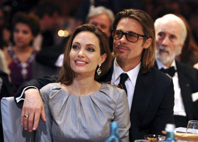 """""""Reuters""""/""""Scanpix"""" nuotr./Bradas Pittas ir Angelina Jolie"""