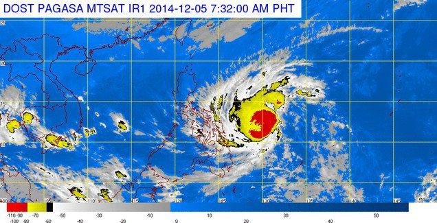 Taifūno Hagupit (Ruby) susiformavimo vieta, nurodoma orų biuro PAGASA