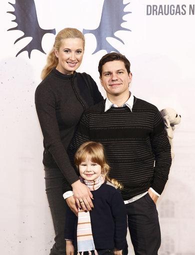 Luko Balandžio/Žmonės.lt nuotr./Deividas Norvilas su žmona Renata