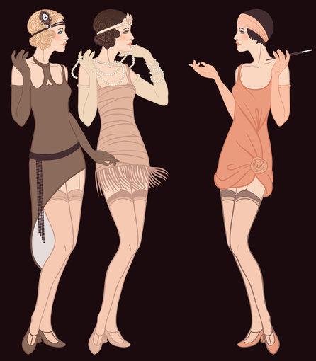 """""""Shutterstock"""" nuotr./Pirštinės, kaklo papuošalas ir cigaretės laikiklis – trys pagrindiniai """"flapper"""" merginos akcentai."""