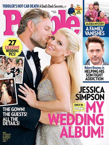 "Žurnalo ""People"" viršelis/Jessica Simpson ir Ericas Johnsonas"