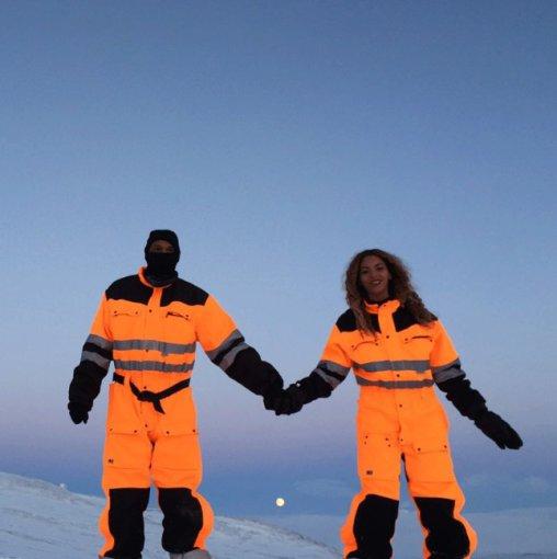 Asmeninio albumo (beyonce.com) nuotr./Beyonce ir Jay Z Islandijoje
