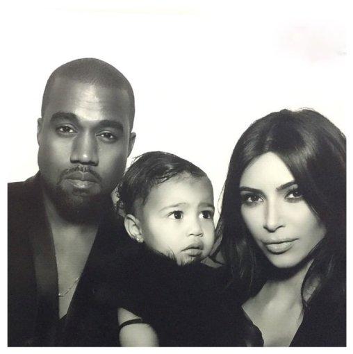 """Instagram"" nuotr./Kim Kardashian ir Kanye Westas su dukra North"