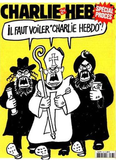 """""""Charlie Hebdo"""" iliustr./2007 m. – """"Charlie Hebdo"""" turi būti uždengtas šydu"""""""