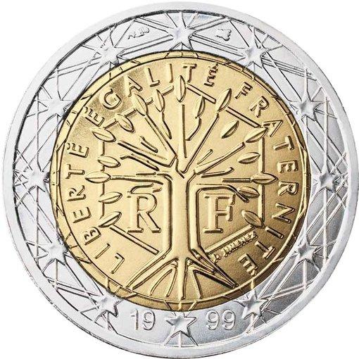 EK nuotr./Prancūziška dviejų eurų moneta