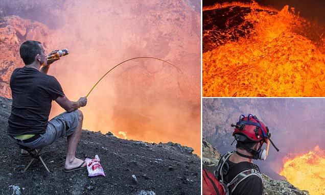 Beprotiškas zefyro kepimas ant Muramo kraterio
