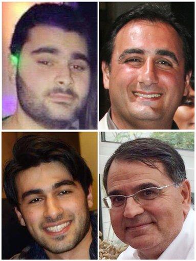 """AFP/""""Scanpix"""" nuotr./Paryžiuje nužudyti žydai: Yoavas Hattabas, Philippe'as Brahamas, Yohanas Cohenas ir Francois-Michelis Saada."""