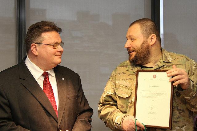 Linas Linkevičius ir ukrainietis Ievgen Dykyj