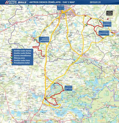 Bendras 2 dienos žemėlapis