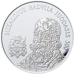 Moneta, skirta Mikalojaus Radvilos Juodojo 500-osios gimimo metinėms