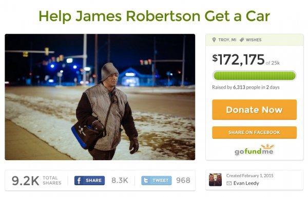 Jamesui Robertsonui į darbą pėdinti nebereiks