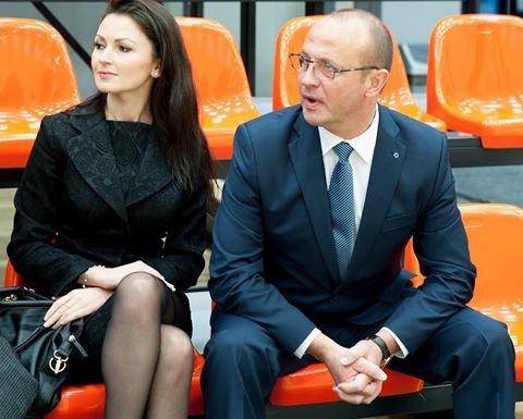 Nuotr. iš druskininkai.lt/Ričardas Malinauskas ir Jurgita Kasperavičiūtė naujojo sporto centro atidaryme