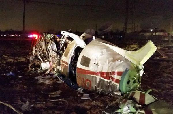 Teksase nukrito lėktuvas.