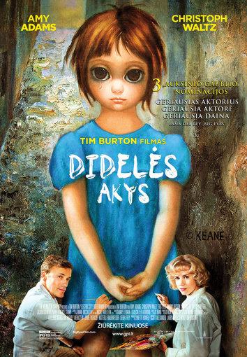 """Filmo plakatas/Filmo """"Didelės akys"""" plakatas"""