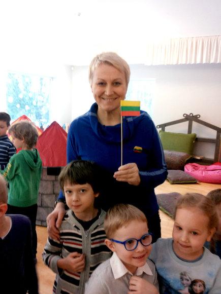 """,,Tele bim-bam"""" darželio įkūrėja ir viena iš akcijos ,,Lietuvai ir man"""" ambasadorių Neringa Čereškevičienė"""