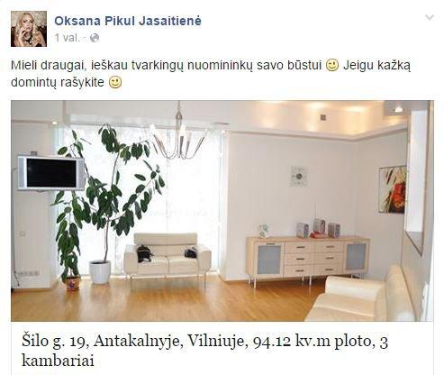 Oksanos Pikul-Jasaitienės skelbimas