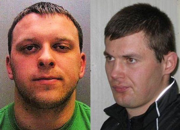 M.Mickevičius (kairėje) ir A.Ringaila (dešinėje) - ieškomi britų policijos.