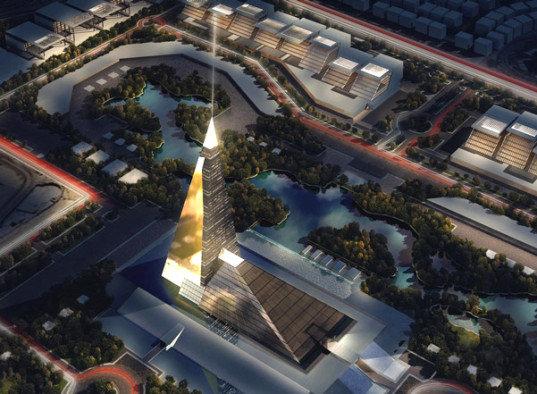 """""""Zayed Crystal Spark"""" piramidė-dangoraižis"""