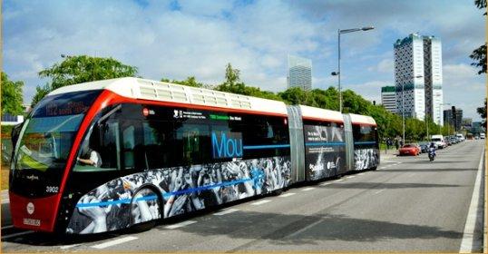 BRT tipo elektriniai autobusai