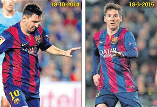 Lionelio Messi pokyčiai